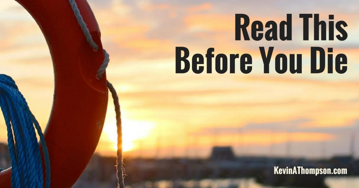 Trust Me, It Matters (or Read This Before You Die)