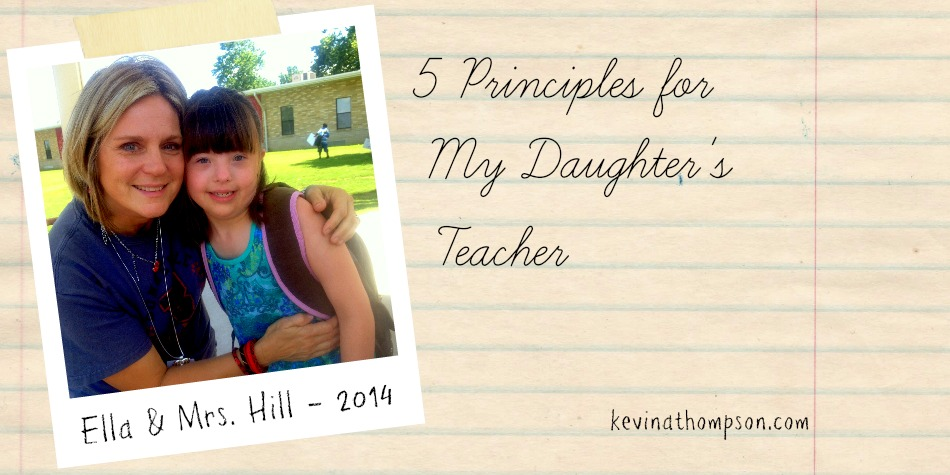 Five Principles for My Daughter's Teacher