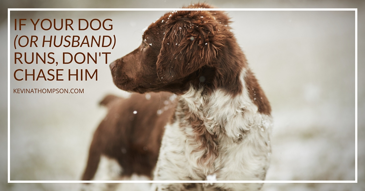 If Your Dog (or Husband) Runs, Don't Chase Him - Kevin A