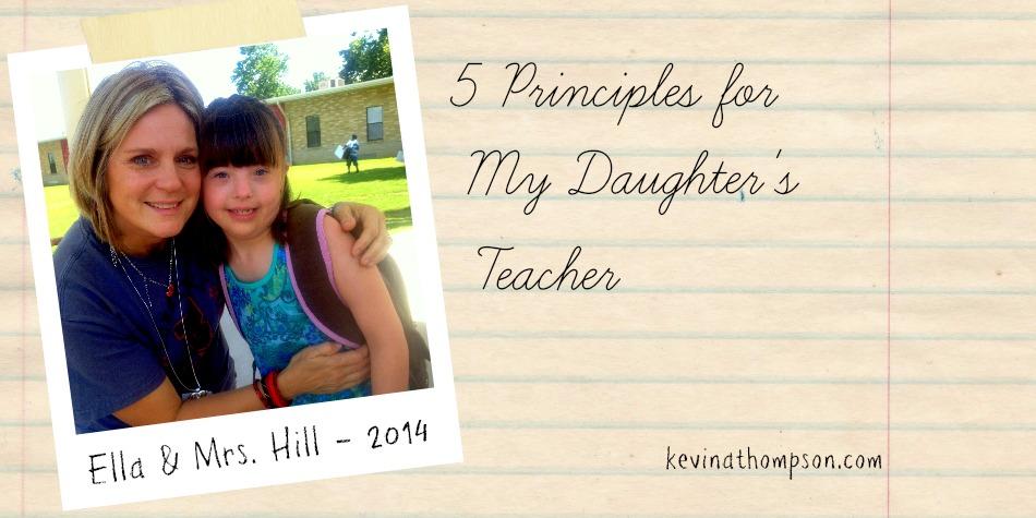 Five Principles for My Daughter's Teacher