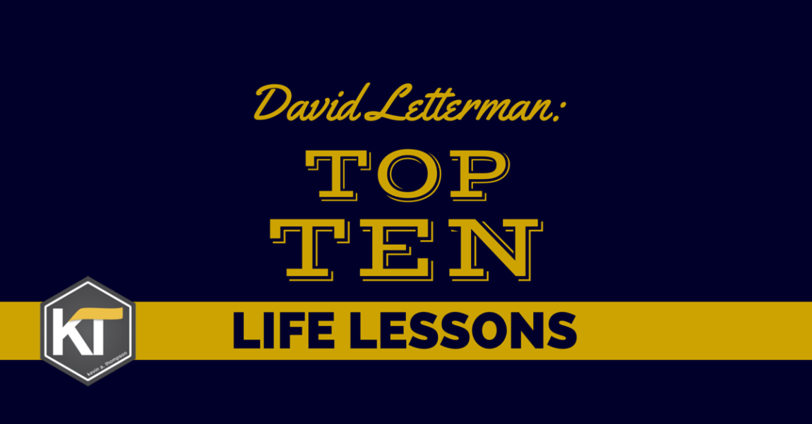 David Letterman: Top Ten Life Lessons