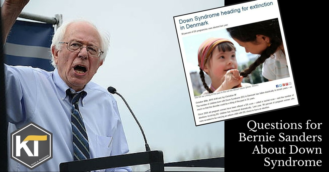 Questions for Bernie Sanders About Down Syndrome