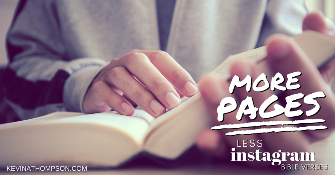 More Pages, Less Instagram Bible Verses